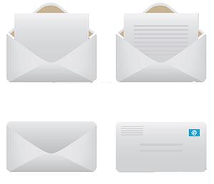 信封信紙、彩色公文袋